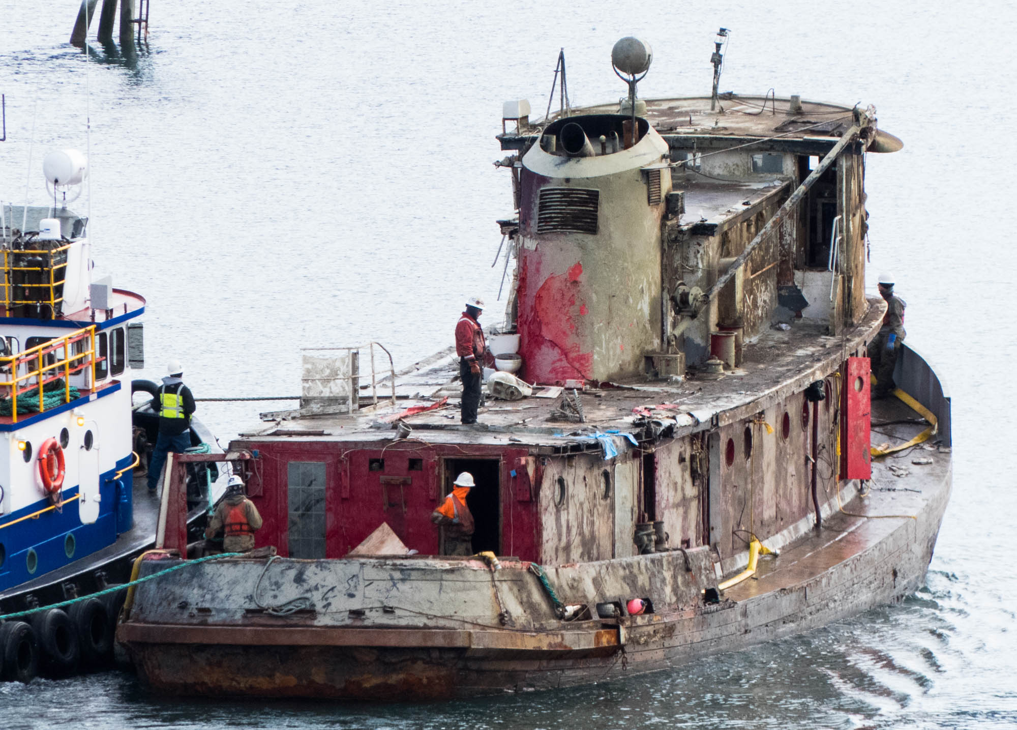 Slideshow Tugboat Challenger Refloated And Moved To