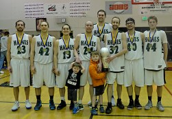 Haines won the B-Bracket of the Juneau Lions Club 71st Annual Gold Medal Basketball Tournament at Juneau-Douglas High School on Saturday, 79-73 over Hoonah. (Photo courtesy Klas Stolpe)