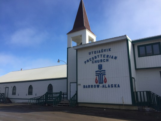The Presbyterian Church had Utqiaġvik in its name before the vote, but the side of the building still has the location as Barrow, Alaska.