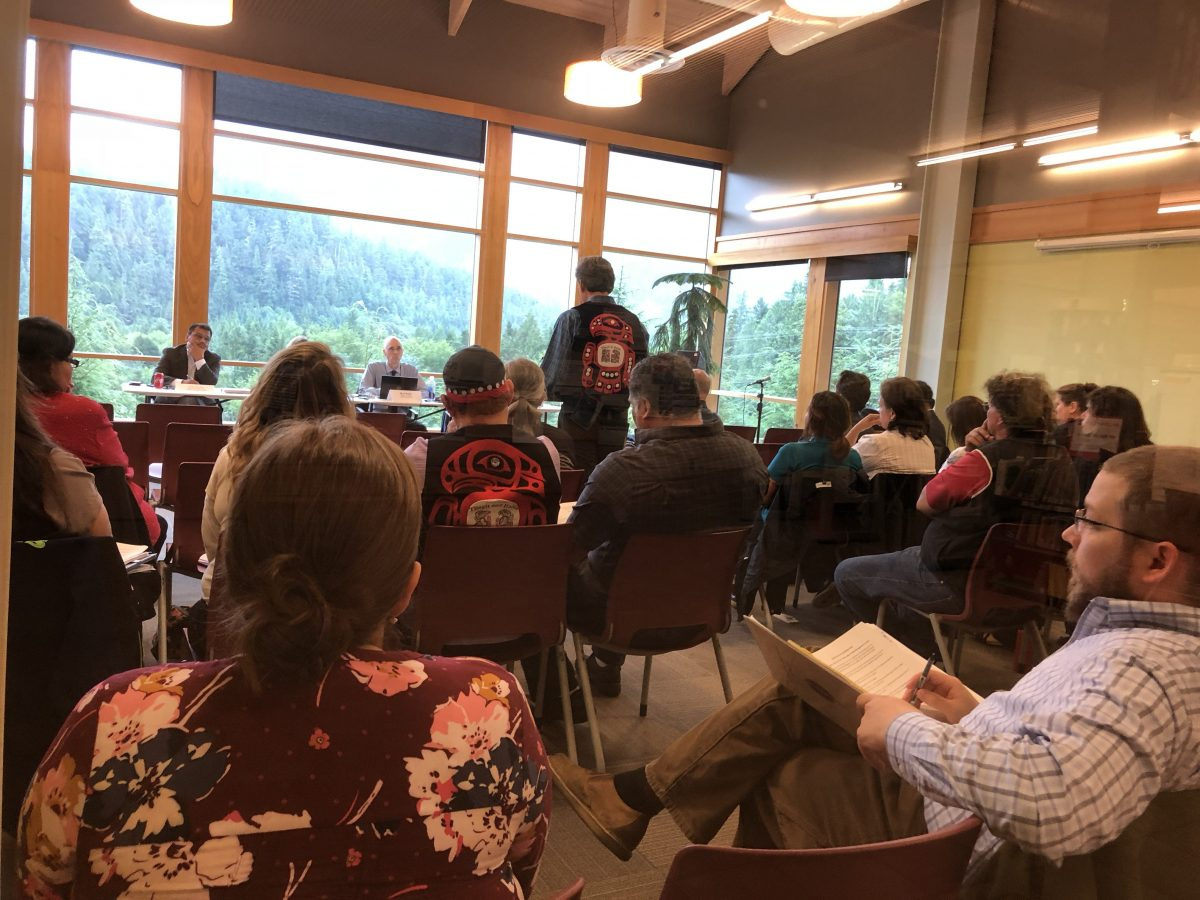Native tribes in Ketchikan tell Interior Department to keep land     Native tribes in Ketchikan tell Interior Department to keep land trust  program