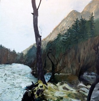 """""""Gold Creek"""" by Crystal Cudworth. (Image courtesy of the Juneau-Douglas City Museum)"""