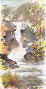 """""""Waterfall"""" by Mark Vinsel. (Image courtesy of Mark Vinsel)"""