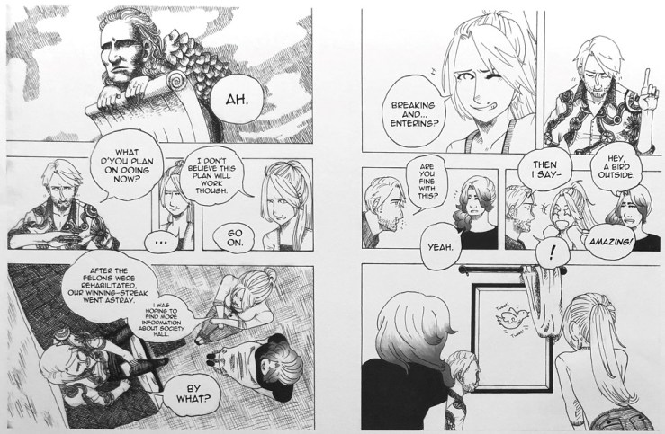 """A selection from Clair Scott's graphic novel """"Meow Cats."""" (Courtesy of Heather Ridgeway)"""
