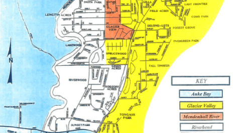 A portion of the Juneau School District elementary school boundaries map, from the Oct. 8, 2019 Board of Education meeting packet.