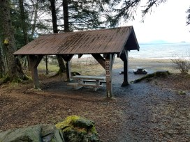 One of the old shelters in the U.S. Forest Service's Lena Beach Recreation Area. (Photo courtesy of U.S. Forest Service)