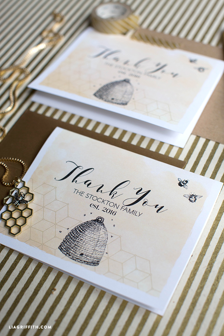 Honey Bee Thank You Cards Lia Griffith
