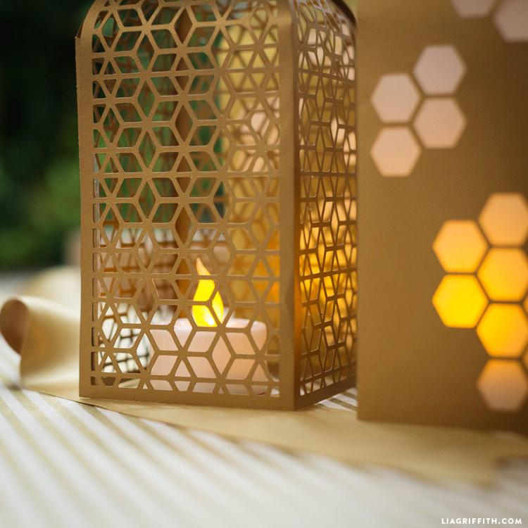 Papercut Honeycomb Lanterns Lia Griffith