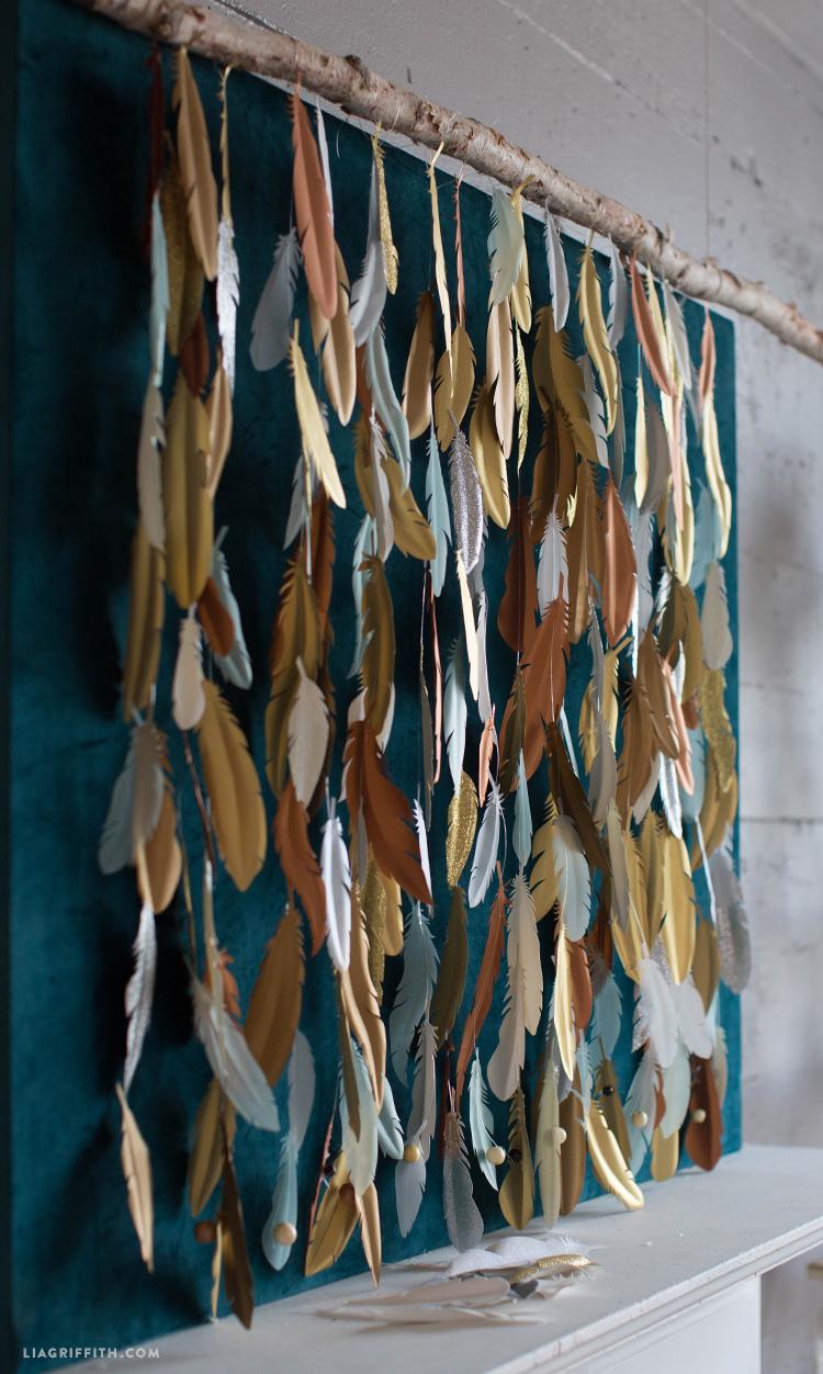 Make A Paper Feather Backdrop DIY Photo Backdrop