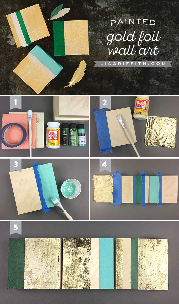 Foiled Wall Art Techniques For A Super Easy DIY Project