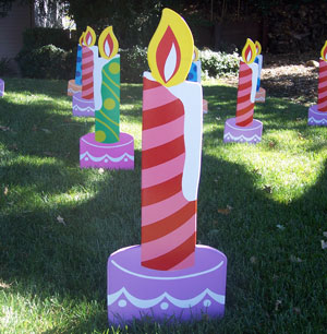 Candles from Greetings by the Yard, Flamingo Surprise and Cards by the Yard