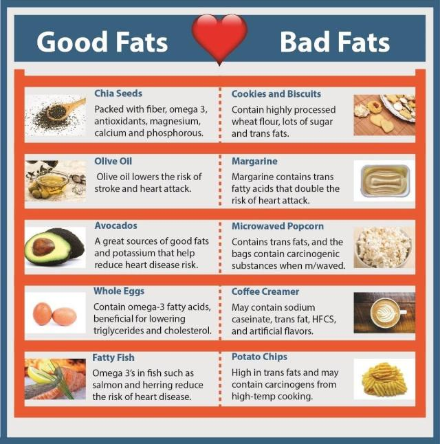 Good Fats - Bad Fats - Infographic