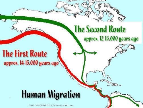 Native American Bering Strait Migration