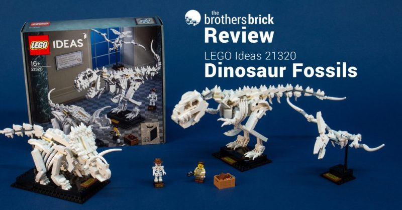 LEGO Ideas 21320 Dinosaur Fossils - assembling T. rex & Triceratops & Pteranodon, oh my! [Review] | The Brothers Brick