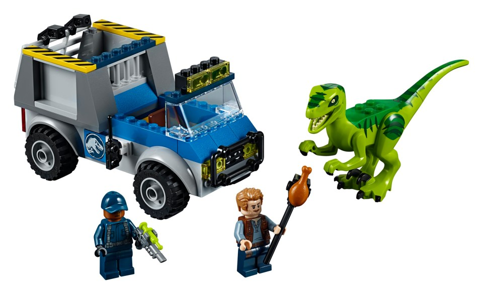 LEGO Jurassic World 10757 Raptor Rescue Truck - full set