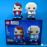 41611 Back To the Future BrickHeadz Doc and Marty Top of Box