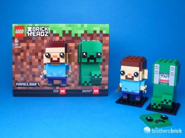 lego brickheadz 41612 steve and creeper from minecraft review