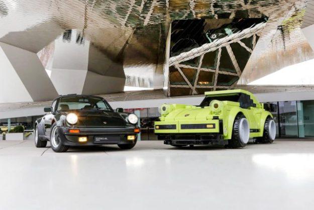 真正的保时捷911和扩大乐高保时捷911涡轮增压