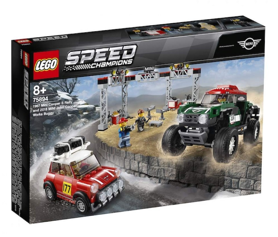 lego 75894 speed champions 1967 mini cooper s rally and. Black Bedroom Furniture Sets. Home Design Ideas