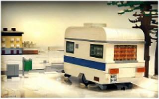Caravan in snow