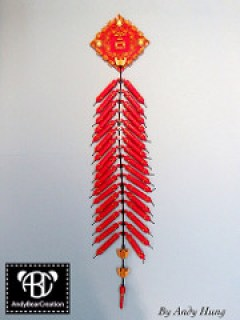 The traditional Chinese fire cracker