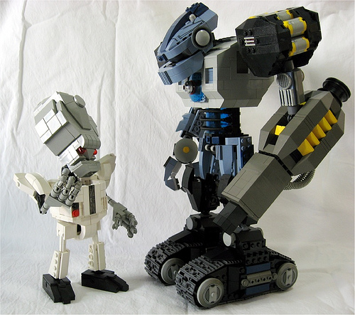Doc Grok and Henchbot by Al Mac