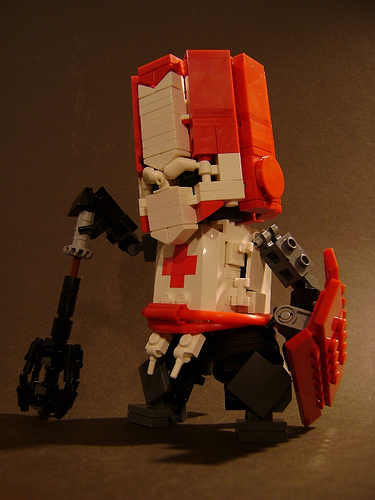LEGO Red Knight from Castle Crashers