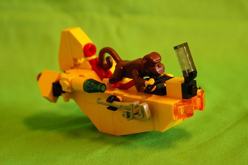 LEGO monkey on a speeder bike
