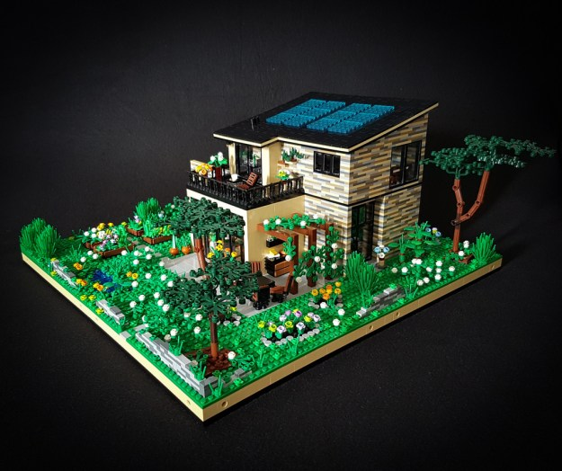 Lilium Eco House MOC south-eastern corner