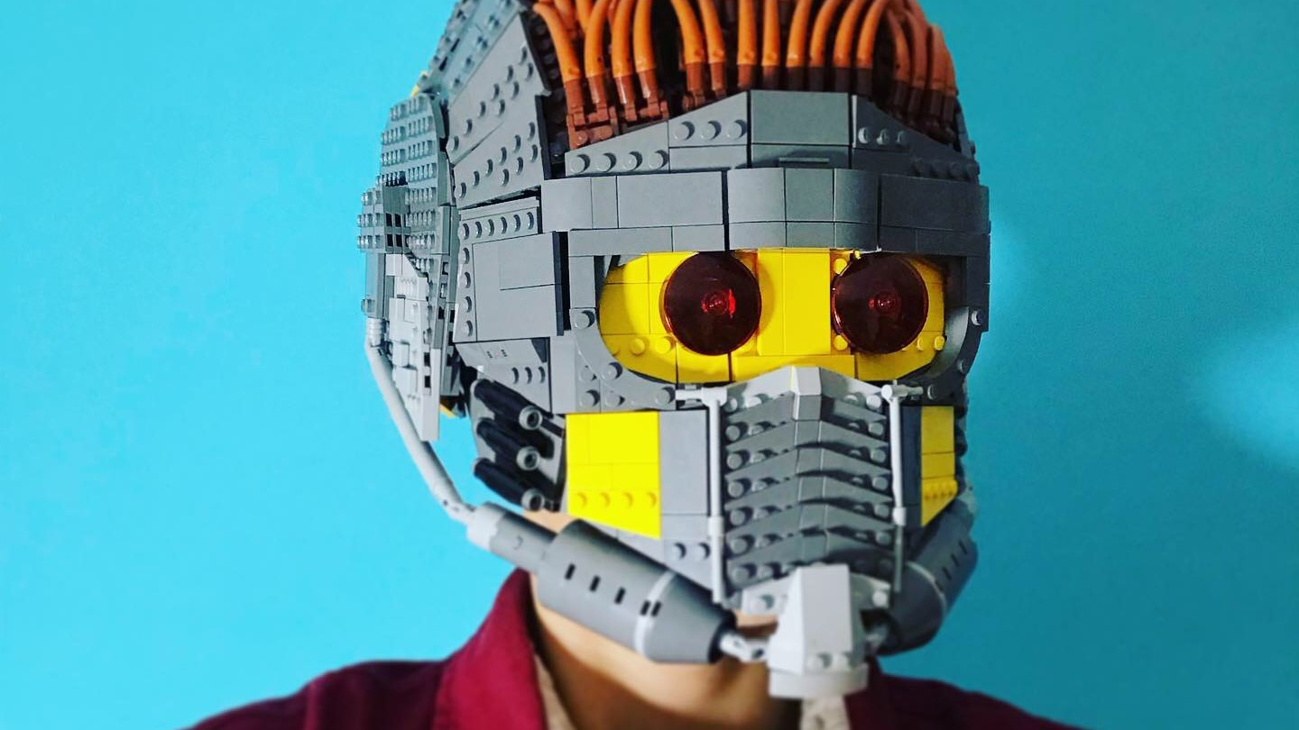 LEGO Guardians of the Galaxy Star-Lord helmet is wearable