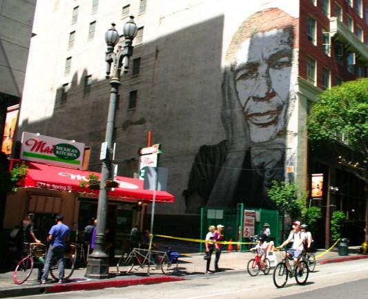 Los murales de la Calle Spring, testigos mudos de Ciclavía