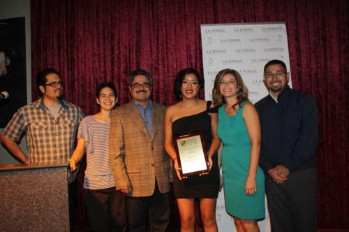 La activista Laura Torres recibió un reconocimiento por su la labor en favor del ciclismos. (Foto Agustín Durán/El Pasajero).