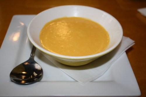 Crema de zanahoria. (Foto Agustín Durán/El Pasajero).