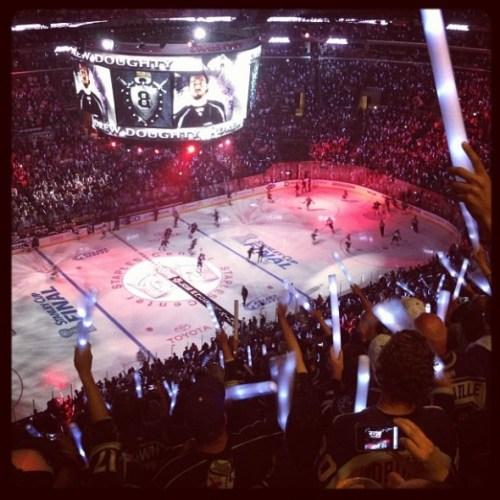 Escena del cuatro juego de los Kings contra los Devils. (Foto: L.A. Kings Instagram feed)