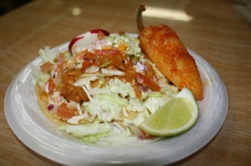Tacos de pescado  (Foto Agustín Durán/El Pasajero)