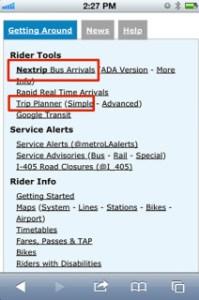 -Enlaces de Nextrip, varios servicios de Trip Planners y servicio de información