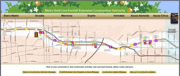 mapa Extensión a Foothill