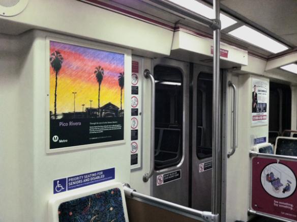 El póster de Ramírez en uno de los trenes de la Línea Roja de Metro.