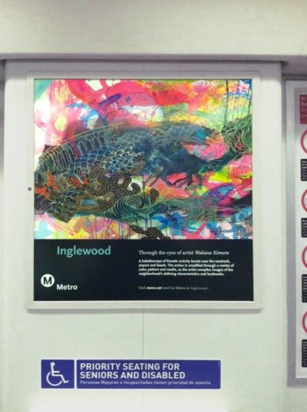 El cartel de Wakana Kimura en uno de los trenes de la Línea Roja de Metro.