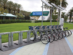 Estación de bicicletas: Foto cortesía de Bike Nation.