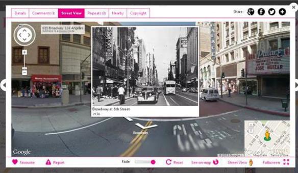 Broadway & 6th Street en 1938 y ahora.