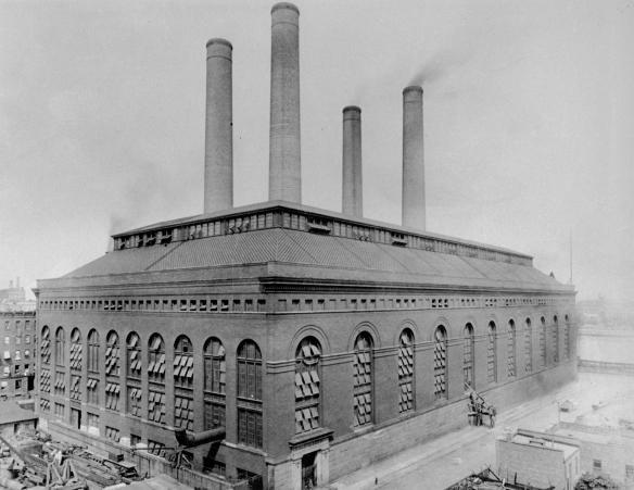 La central eléctrica de 74th Street. Foto: New York Transit Museum.