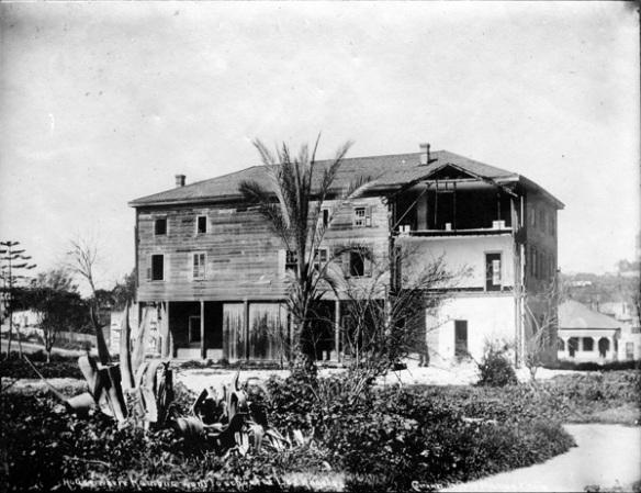 """Foto""""La casa de Benjamin Wilson se convirtió después en el Asilo de Huérfanos de Los Ángeles. Foto: Cortesía de Seaver Center for Western History Research, Natural History Museum of Los Angeles County."""