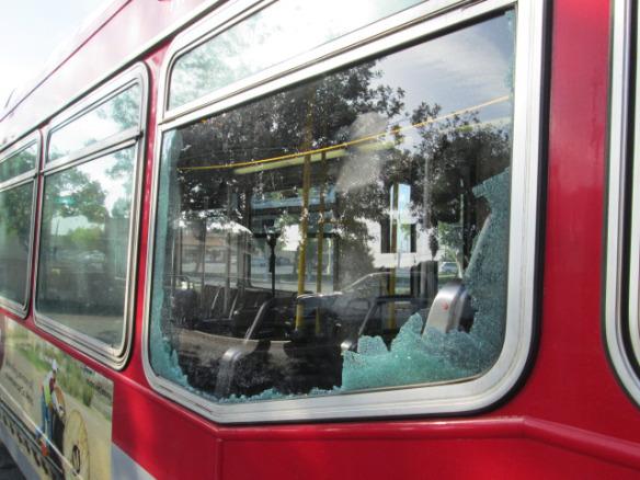 autobús dañado