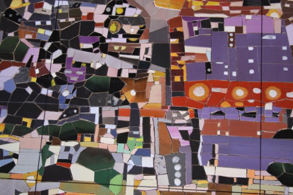 Detalles de la obra de Susan Logoreci. Foto: Mosaika Art & Design.