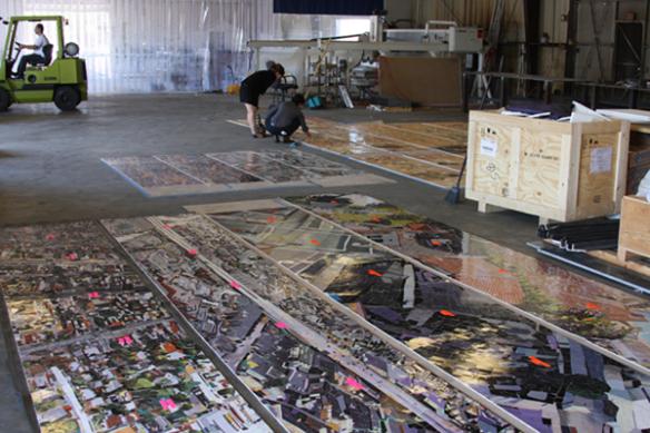 Inspección de la obra. Foto: Metro.