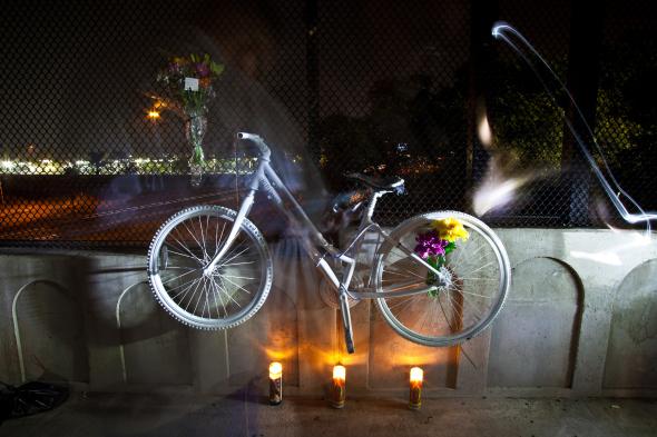 Bicicleta fantasma. Foto: Danny Gamboa.