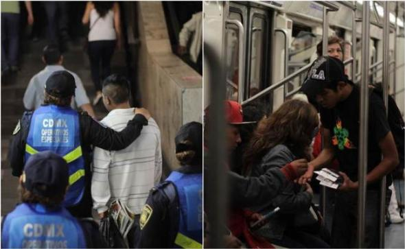 El desalojo de los vendedores tiene como finalidad incrementar la seguridad en el Metro, según las autoridades. Foto: El Universal.