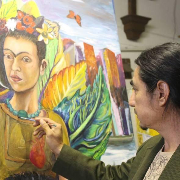 El pintor Enrique Brito.