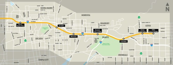 mapa foothill