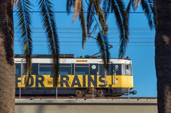 Tren de la Línea Expo. Foto: Steve Hamon/Metro.